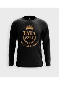 MegaKoszulki - Koszulka męska z dł. rękawem Tata - szef wszystkich szefów. Materiał: bawełna