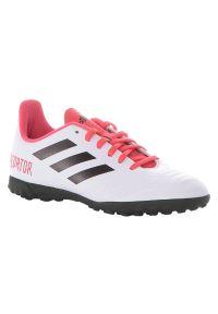 Adidas - Buty adidas Predator 18.4 TF CP9096 Jr. Okazja: na imprezę. Materiał: guma, materiał, syntetyk. Szerokość cholewki: normalna. Wzór: nadruk. Sport: piłka nożna