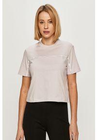 Fioletowa bluzka Calvin Klein Jeans casualowa, na co dzień, z aplikacjami #5