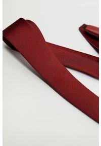 Mango Man - Krawat BASIC5. Kolor: czerwony. Materiał: materiał. Wzór: gładki