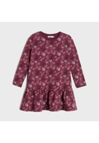Sinsay - Sukienka babydoll - Bordowy. Kolor: czerwony