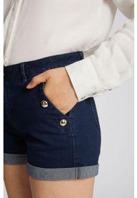 Morgan - Szorty jeansowe. Okazja: na co dzień. Kolor: niebieski. Materiał: jeans. Styl: casual #3