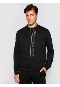 Karl Lagerfeld - KARL LAGERFELD Bluza 705012 511900 Czarny Regular Fit. Typ kołnierza: dekolt w karo. Kolor: czarny