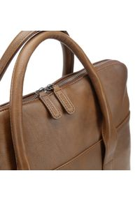 Brązowa torba na laptopa Wittchen z aplikacjami, elegancka
