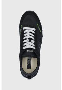 Guess - Buty. Nosek buta: okrągły. Zapięcie: sznurówki. Kolor: czarny. Materiał: guma