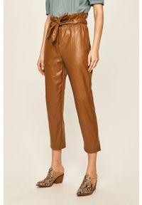 Brązowe spodnie materiałowe ANSWEAR