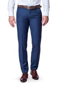 Spodnie Lancerto klasyczne, w kolorowe wzory