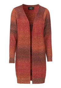 Sweter Zoey w kolorowe wzory, długi