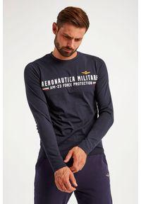 Aeronautica Militare - LONGSLEEVE AERONAUTICA MILITARE. Materiał: bawełna, guma. Długość rękawa: długi rękaw. Wzór: napisy, aplikacja #1