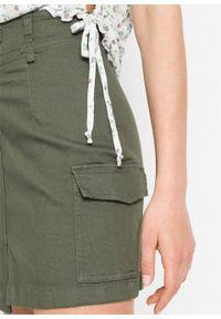 Spódnica bojówka bonprix oliwkowy. Kolor: zielony