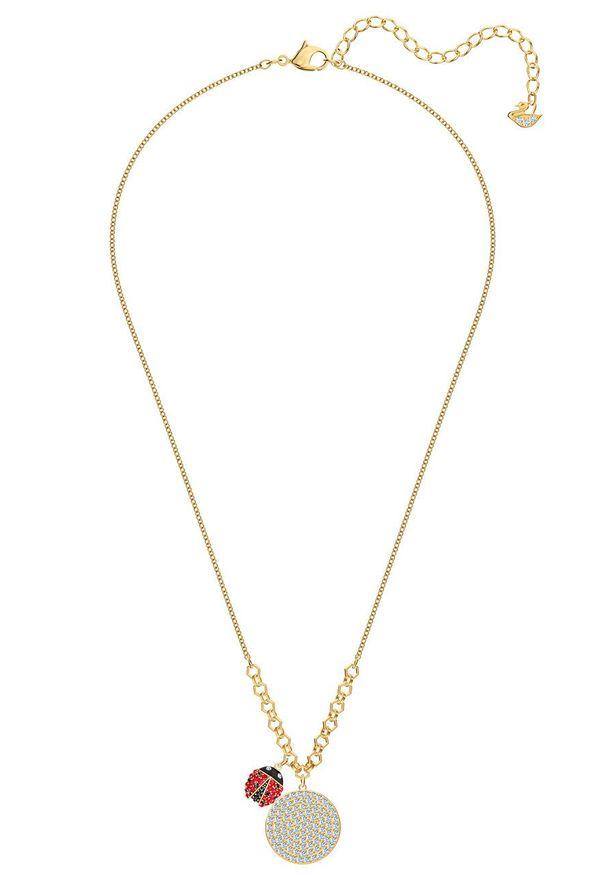 Złoty naszyjnik Swarovski ze stali, z kryształem