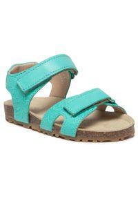 RenBut - Sandały RENBUT - 21-3371 Zielony. Zapięcie: pasek. Kolor: zielony. Materiał: skóra. Wzór: paski. Sezon: lato. Styl: wakacyjny, młodzieżowy