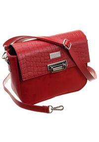 Czerwona torebka Badura elegancka, zamszowa