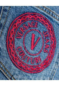 Versace Jeans Couture - VERSACE JEANS COUTURE - Jeansowe spodnie z logo marki. Kolor: niebieski