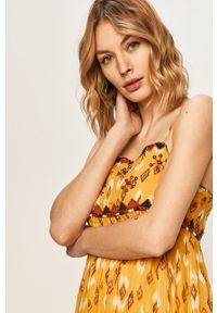Wielokolorowa sukienka Pepe Jeans na ramiączkach, prosta, z aplikacjami