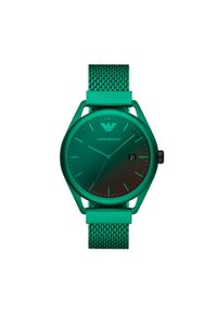 Emporio Armani Zegarek Matteo AR11326 Zielony. Kolor: zielony