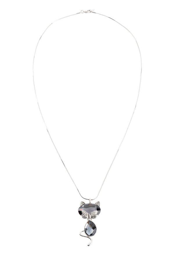 Łańcuszek bonprix srebrny kolor - antracytowy