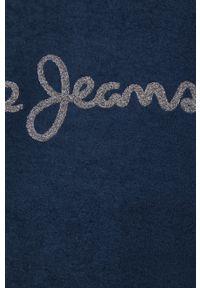 Pepe Jeans - Bluza Nana. Okazja: na co dzień. Kolor: niebieski. Materiał: materiał. Długość rękawa: raglanowy rękaw. Wzór: aplikacja. Styl: casual