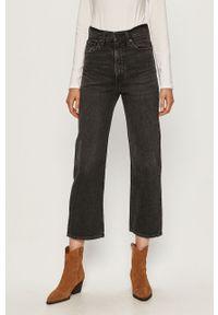 Szare jeansy Levi's® biznesowe, na spotkanie biznesowe, z podwyższonym stanem