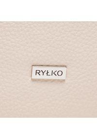 Ryłko - Torebka RYŁKO - R40351TB Kremowy J05. Kolor: beżowy. Materiał: skórzane. Styl: klasyczny. Rodzaj torebki: na ramię