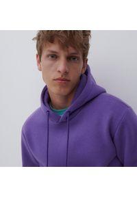 Reserved - Dresowa bluza z kapturem - Fioletowy. Typ kołnierza: kaptur. Kolor: fioletowy. Materiał: dresówka