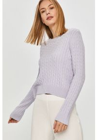 Fioletowy sweter Answear Lab długi, z długim rękawem, wakacyjny, na co dzień
