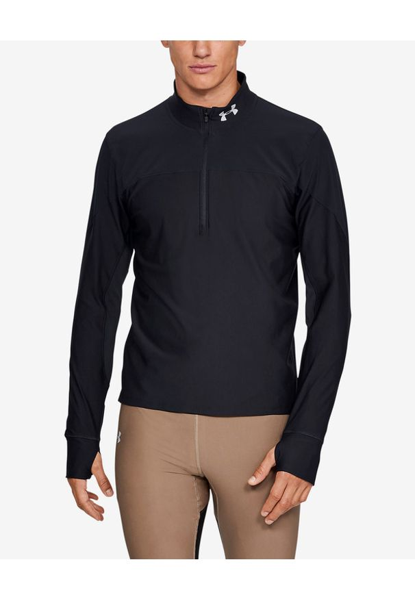 Czarna bluza Under Armour długa, w kolorowe wzory, sportowa