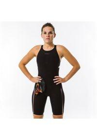 NABAIJI - Strój Startowy Pływacki Fina Skinvolt 900. Kolor: szary, wielokolorowy, czarny. Materiał: elastan, materiał, poliamid