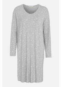 Cellbes Miękka koszula nocna popielaty melanż we wzory female szary/ze wzorem 58/60. Kolor: szary. Materiał: włókno, wiskoza. Długość: długie. Wzór: melanż