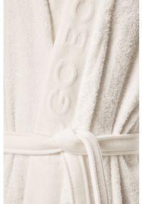 Biały szlafrok HUGO BOSS gładki