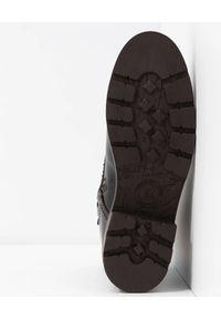 Brązowe botki Panama Jack klasyczne, na zimę, na sznurówki