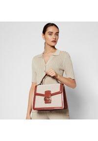 U.S. Polo Assn - Torebka U.S. POLO ASSN. - Lockhart Flap Handle Bag BEULK5058WUPN04 Natural Brown. Kolor: beżowy. Materiał: skórzane. Styl: klasyczny. Rodzaj torebki: na ramię