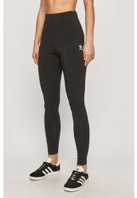 Czarne legginsy adidas Originals z podwyższonym stanem