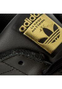 Czarne buty sportowe Adidas na lato, Adidas Superstar, do biegania