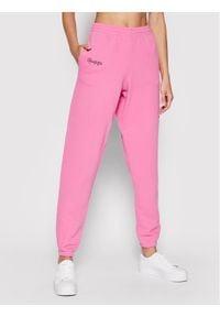 Kontatto Spodnie dresowe SDK200 Różowy Regular Fit. Kolor: różowy. Materiał: dresówka