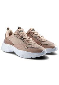Lee Cooper - Sneakersy LEE COOPER LCWL-20-39-042 Coral. Okazja: na co dzień. Materiał: skóra ekologiczna, materiał. Szerokość cholewki: normalna. Styl: sportowy, casual