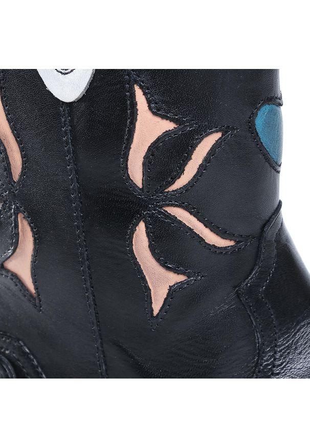 Czarne kozaki Pepe Jeans z cholewką przed kolano, z cholewką