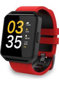 Smartwatch FitGo FW15 Square Czerwony (FITGOFW15RED). Rodzaj zegarka: smartwatch. Kolor: czerwony
