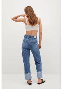 Niebieskie proste jeansy mango z podwyższonym stanem