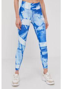 Niebieskie legginsy Reebok z podwyższonym stanem