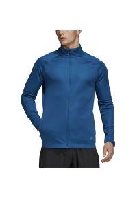 Niebieska bluza Adidas długa, z długim rękawem, klasyczna
