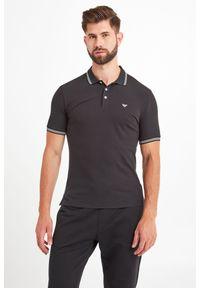 Koszulka polo Emporio Armani polo, w jednolite wzory, sportowa
