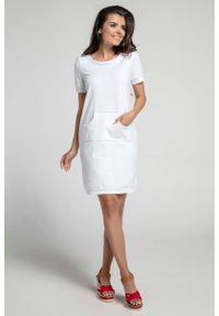 Biała sukienka Nommo sportowa, sportowa