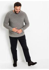 Szary sweter bonprix w prążki