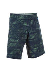NABAIJI - Szorty Pływackie Długie 100 Tex Męskie. Kolor: zielony. Materiał: poliester, poliamid, materiał, elastan. Długość: długie