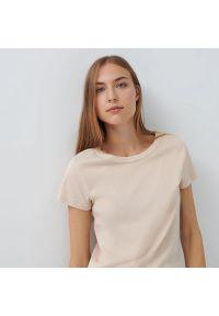 House - Koszulka z bawełny organicznej basic - Kremowy. Kolor: kremowy. Materiał: bawełna