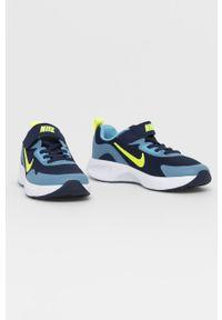 Niebieskie buty sportowe Nike Kids z cholewką, na rzepy