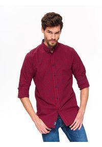 Czerwona koszula TOP SECRET casualowa, na wiosnę