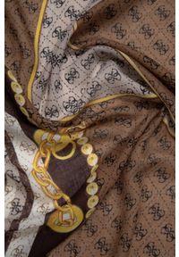 Guess - Chusta. Kolor: brązowy. Materiał: tkanina