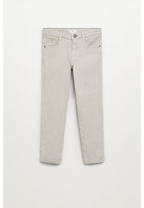 Białe jeansy Mango Kids w kolorowe wzory